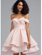 A-line Sleeveless Mini Romantic Sexy Dresses