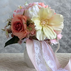 Classic Round Satin/Paper Bridal Bouquets -