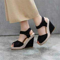 Women's Mesh Wedge Heel Wedges With Split Joint shoes