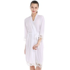 Lace Cotton Bride Bridesmaid Blank Robes Lace Robes (248149776)