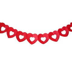 Red Heart Design Paper Photo Booth Props/Banner (36 Pieces)