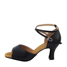 Women's Real Leather Latin Dance Shoes (053137763)