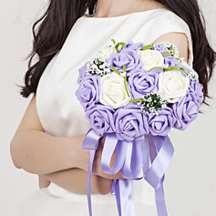 Sweet Hand-tied Ribbon/Poly Ethylene Bridal Bouquets