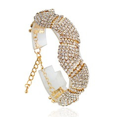 Shining Alloy With Rhinestone Women's Fashion Bracelets (Sold in a single piece)
