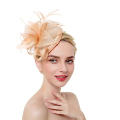 Dames Mode/Klassiek/Eenvoudig Netto garen met Feather Fascinators