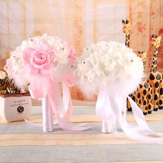 Gorgeous Free-Form Satin Bridal Bouquets -