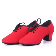 Women's Canvas Pumps Practice With Lace-up Dance Shoes