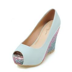 Donna Similpelle Zeppe Stiletto Zeppe con Tacchi ingioiellati scarpe