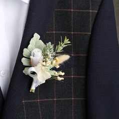 Refined Free-Form Cloth Boutonniere - Boutonniere