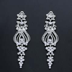 Elegant Alloy/Zircon Ladies' Earrings (011200529)