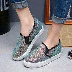 Women's Sparkling Glitter Flat Heel Flats With Sparkling Glitter shoes