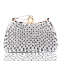Dumpling Shaped Crystal/ Rhinestone Clutches (012204109)