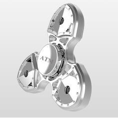 Personalized Stainless Steel/Zinc Alloy Fidget Hand Tri-Spinner Anxiety & Stress Relief Toy