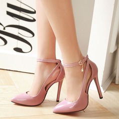 Women's Leatherette Stiletto Heel Sandals Pumps Closed Toe With Rhinestone Hollow-out shoes (085124478)
