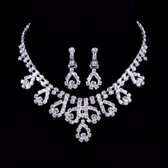 Elegant Alloy/Rhinestones Ladies' Jewelry Sets