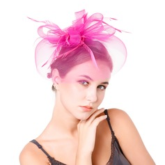 Ladies' Charming Feather/Net Yarn With Feather Fascinators