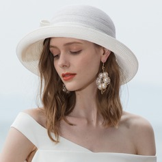 Ladies' Classic/Elegant/Simple/Vintage/Artistic Linen Beach/Sun Hats
