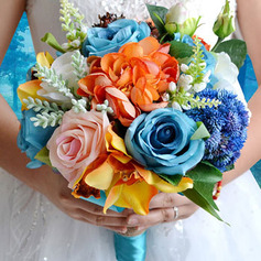 Classic Free-Form Artificial Flower Bridal Bouquets (Sold in a single piece) -