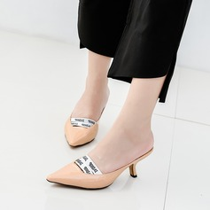Women's Patent Leather Stiletto Heel Pumps Closed Toe With Elastic Band shoes