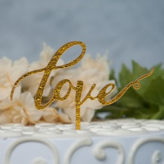 Love Is Sweet Acrylic Cake Topper