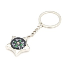 Personalized Star Design Stainless Steel Keychains