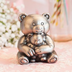 Cute Animal Teddy Bear Tin Alloy Piggy Bank