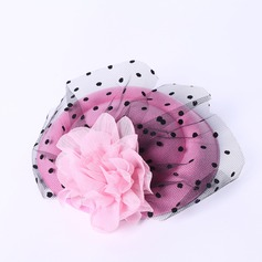 Damer' Elegant Siden blomma/Tyll Fascinators