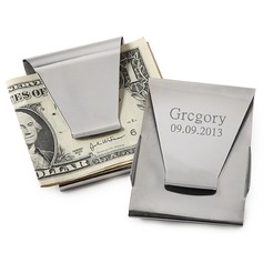 Personalized Classic Pattern Stainless Steel Money Clips