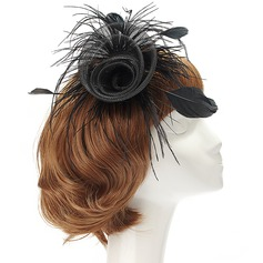 Accrocheur Fil net/Feather Chapeaux de type fascinator