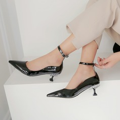 Kvinner Patentert Lær Stiletto Hæl Pumps أحذية