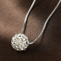 Chic Rhinestones Silver With Rhinestone Ladies' Fashion Necklace