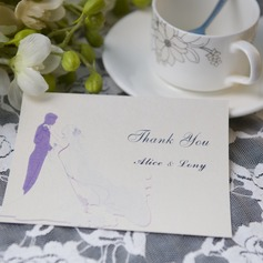 Personalized Bride & Groom Style Thank You Cards (Set of 50)