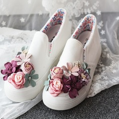 Women's Fabric Others Closed Toe With Satin Flower Flower