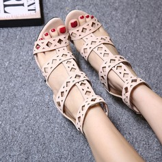 Women's Suede Stiletto Heel Sandals Boots Peep Toe Ankle Boots With Hollow-out shoes