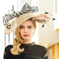 Dames Speciaal/Elegant/Het oog Springende Batist met Feather Fascinators/Kentucky Derby Hats