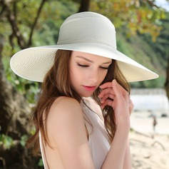 Ladies' Gorgeous/Elegant Raffia Straw With Bowknot Floppy Hat (196134775)