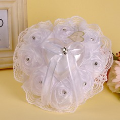 Heart Shaped/Lovely Ring Pillow With Ribbons/Beading