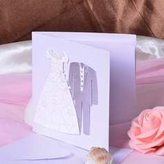 Bride & Groom stil Side Vik Invitation Cards (Sats om 50)