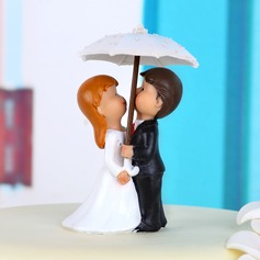 Romantic Moment Resin Wedding Cake Topper