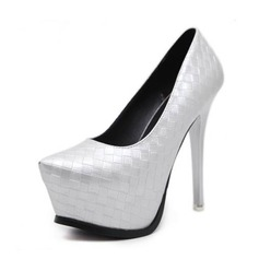 Women's PVC Stiletto Heel Pumps Platform Closed Toe With Others shoes