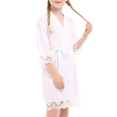 Polyester Flower Girl Blank Robes Lace Robes (248149777)