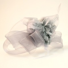 Ladies' Beautiful Net Yarn/Silk Flower Fascinators/Tea Party Hats