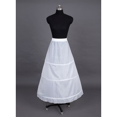 Women Nylon Tea-length 1 Tiers Petticoats (037023565)