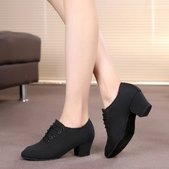 Women's Canvas Heels Pumps Practice Dance Shoes