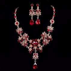 Pretty Alloy/Rhinestones Ladies' Jewelry Sets