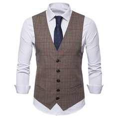 Plaid linned Mænds Vest