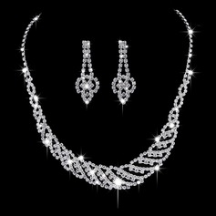 Charming Alloy/Copper With Rhinestone Ladies' Jewelry Sets