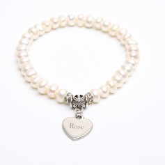 Custom Delicate Chain Name Bracelets Engraved Bracelets With Heart - Christmas Gifts For Her (106215268)