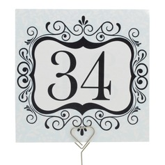 Elegant Pearl Paper Table Number Cards (Set of 10)