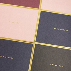 Modern Style Side Fold Thank You Cards (Set of 50)